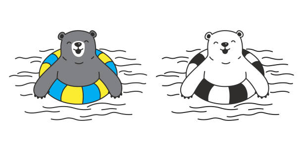 Swimming bear clipart clipart freeuse stock Bear clip art swimming - 29 transparent clip arts, images ... clipart freeuse stock