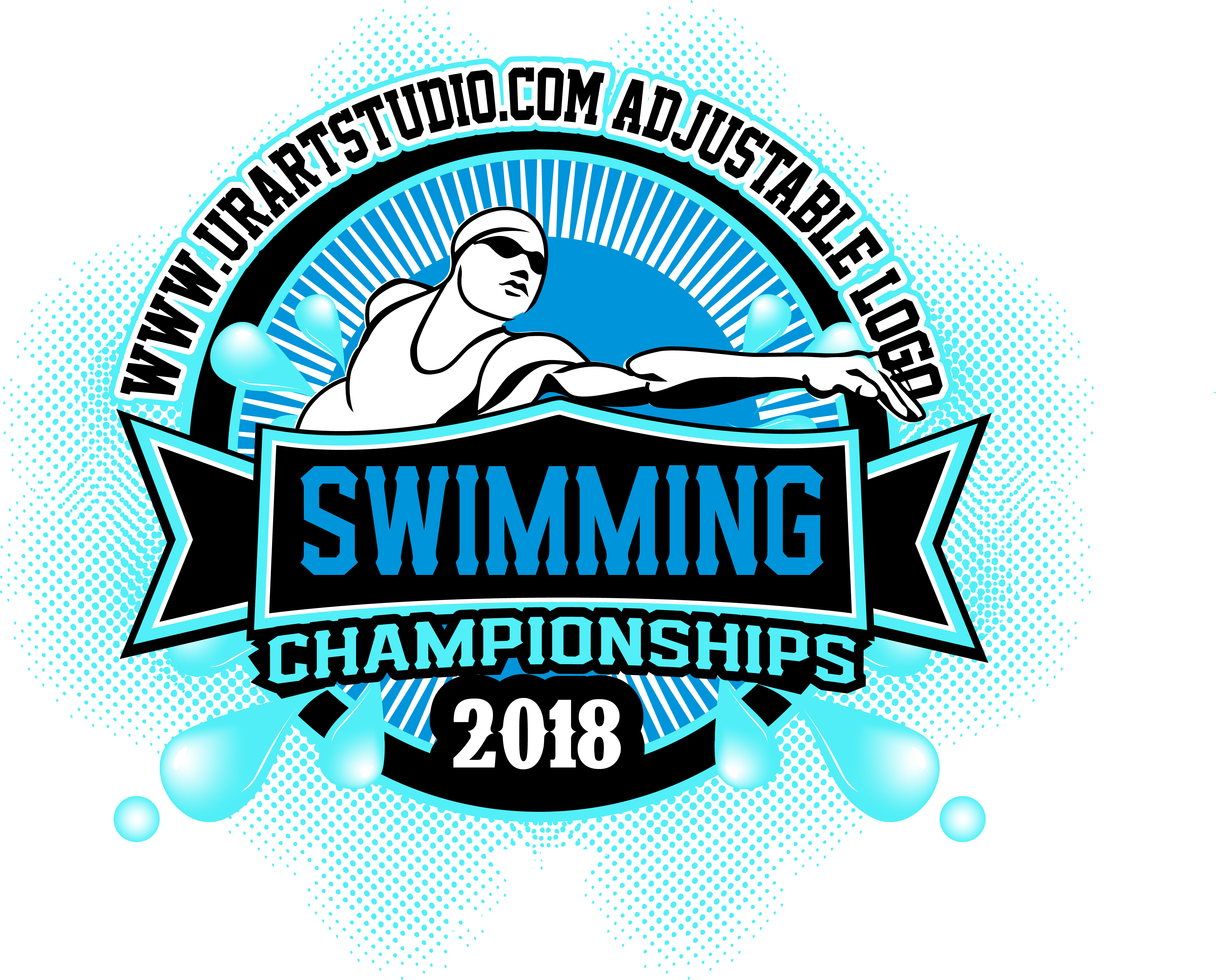 Swimming clipart for t shirts png library library COLOR SEPARATED SWIMMING CHAMPIONSHIPS 2018 T-shirt vector logo design for  print png library library