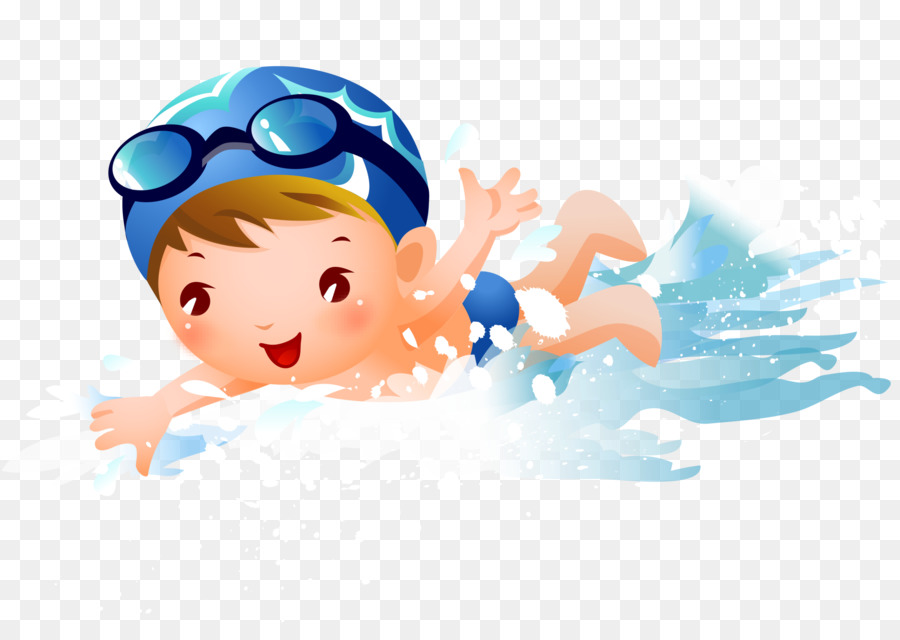 Swimming clipart png image royalty free library Swim Cartoon png download - 2555*1807 - Free Transparent ... image royalty free library