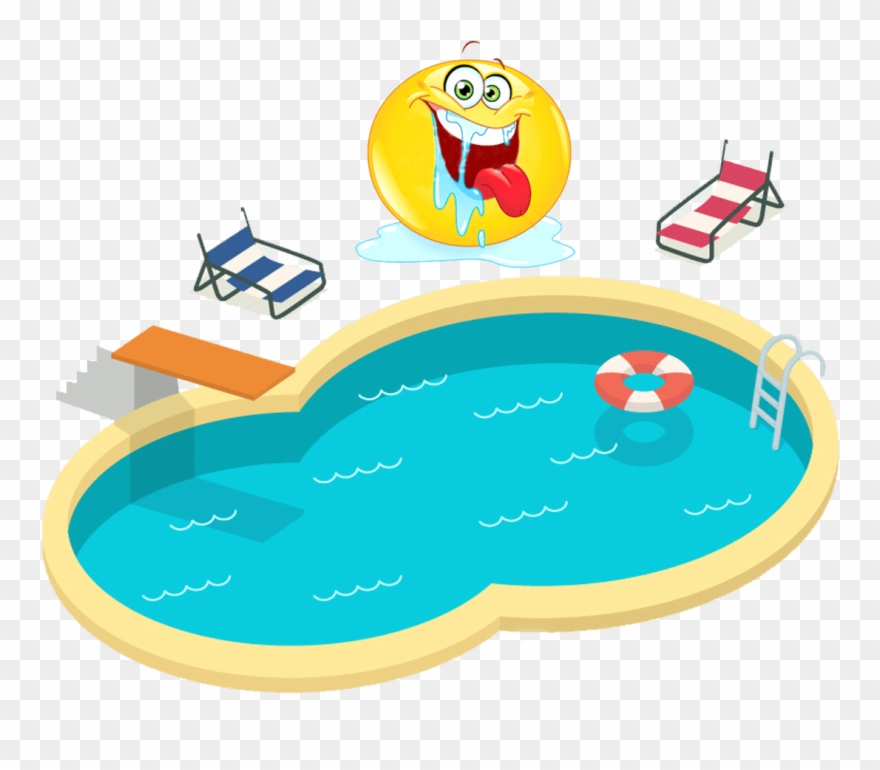 Swimming in the pool clipart graphic free stock During Your Life Time, You Will Produce Enough Saliva ... graphic free stock