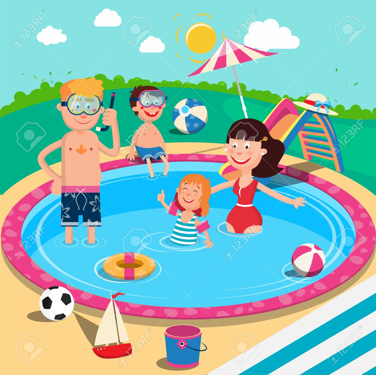 Swimming in the pool clipart picture stock Swimming Pool Clipart 8 - 1300 X 1299 - Making-The-Web.com picture stock