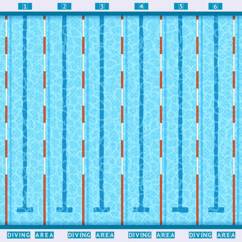 Swimming lane lines clipart graphic stock Swimming Pool Top View Flat Pictogram Vector - Download Free ... graphic stock