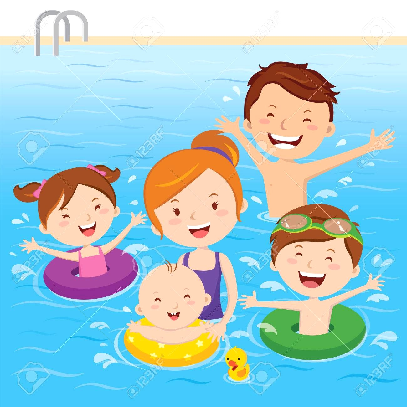 Swimming people clipart vector library library People swimming clipart 2 » Clipart Station vector library library