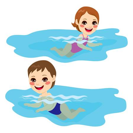Swimming people clipart vector black and white download Swimming People Cliparts - Making-The-Web.com vector black and white download