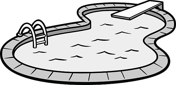 Swimming pool clipart line drawing image transparent library Collection of Swimming pool clipart | Free download best ... image transparent library