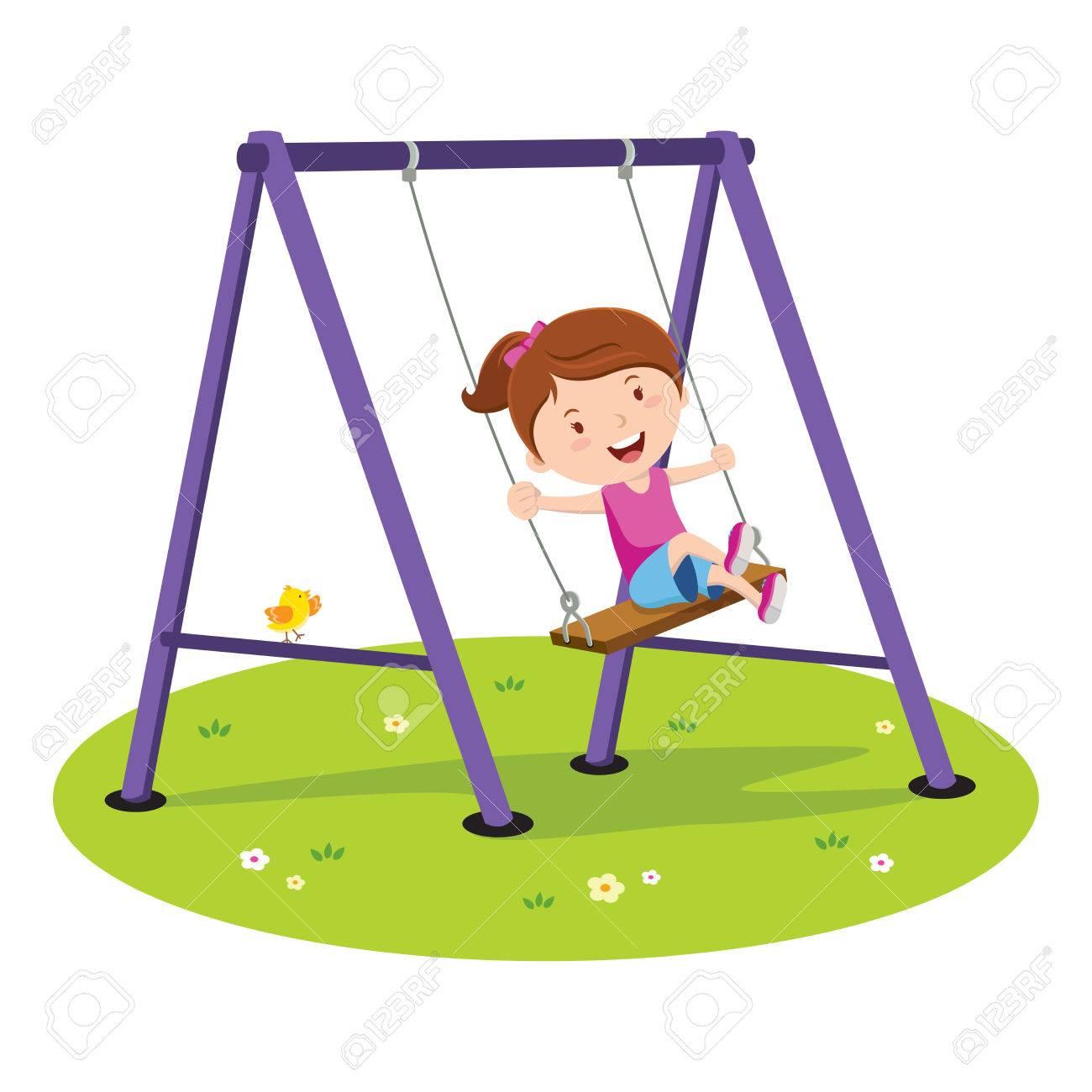 Swind clipart svg transparent stock Girl on swing clipart 4 » Clipart Station svg transparent stock