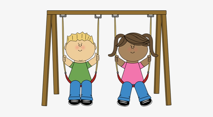 Clipart swing set svg royalty free download Playground Swing Set Clipart - Kids On Swing Clipart ... svg royalty free download