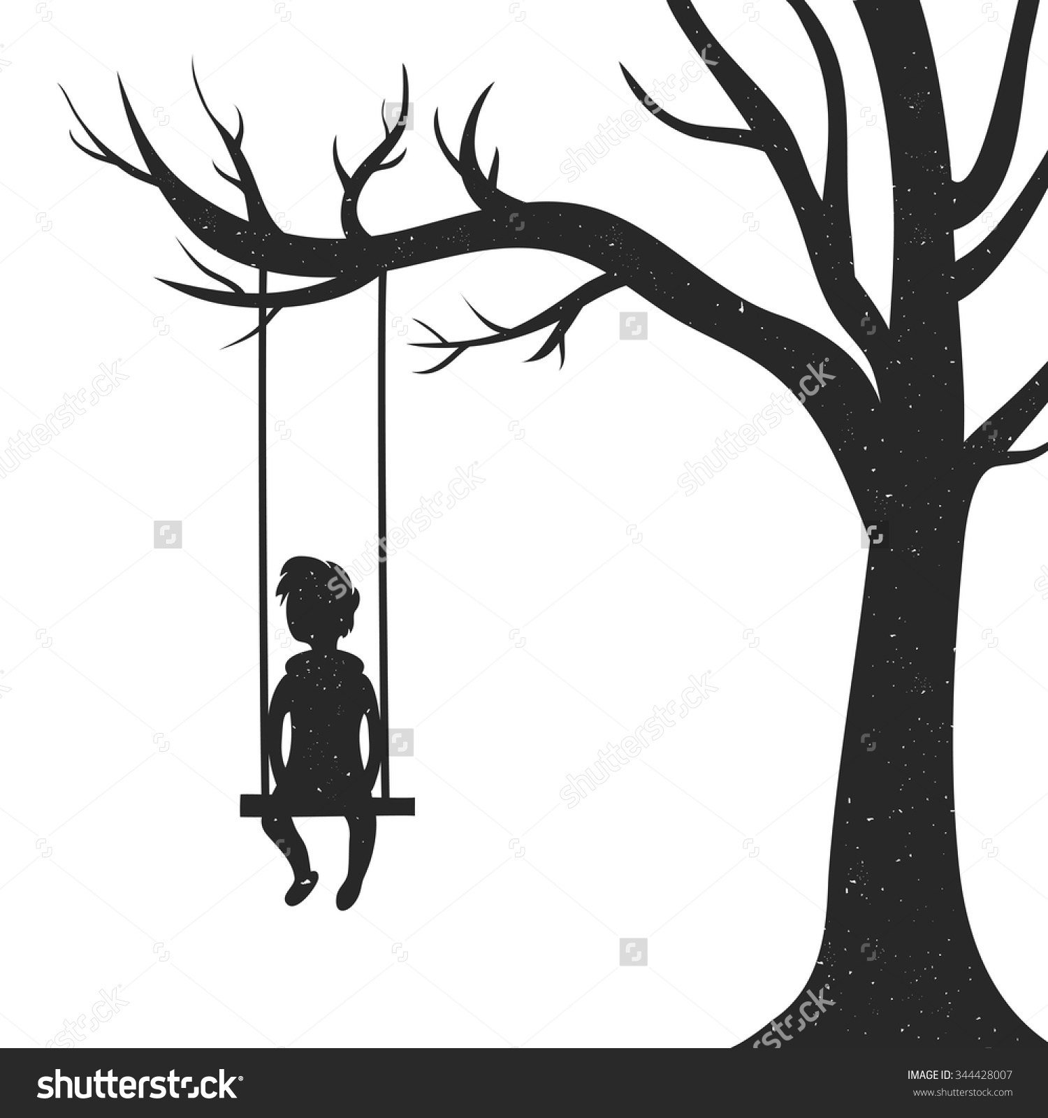 Swing by tree clipart clipart transparent library Tree with swing clipart 6 » Clipart Portal clipart transparent library