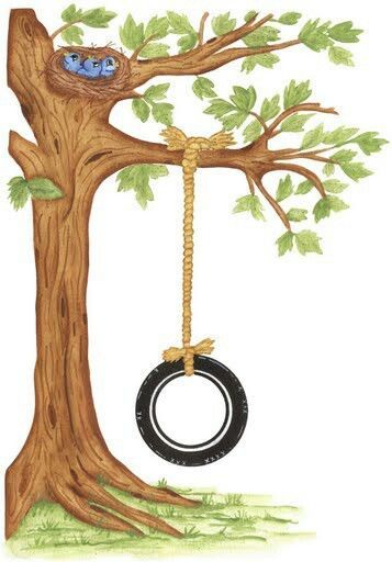 Swing by tree clipart jpg transparent library Pin by Kendrick Villavicencio on Stuff | Swing painting ... jpg transparent library