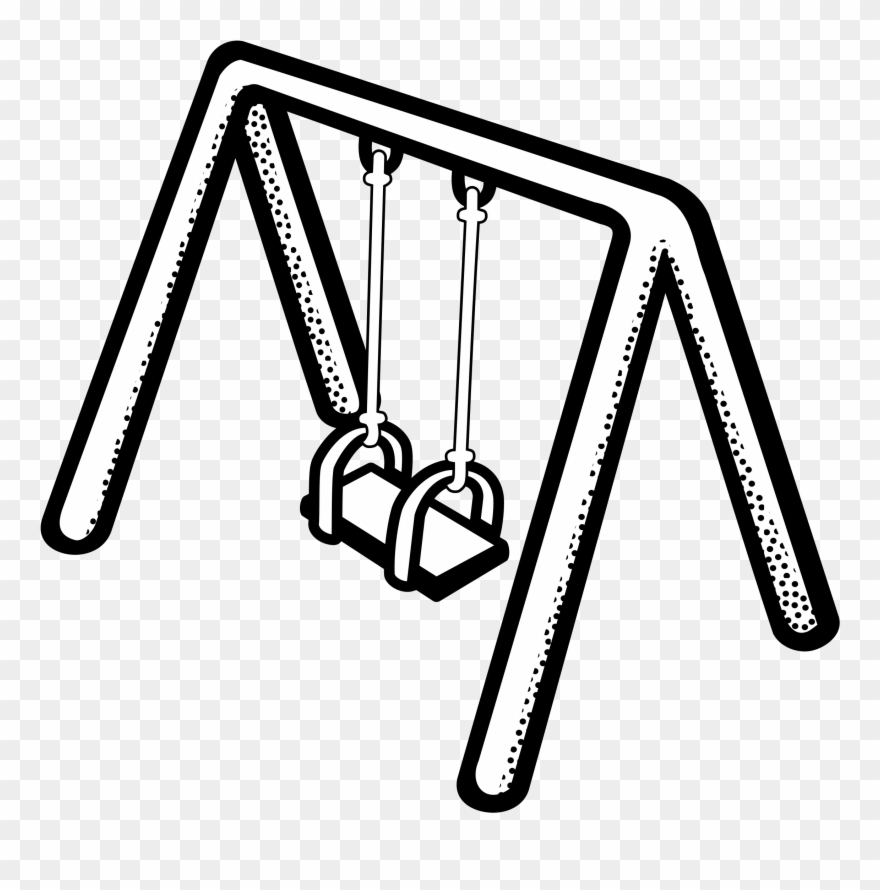 Swing clipart black and white clip art free library Clipart - Swing Clipart Black And White - Png Download ... clip art free library