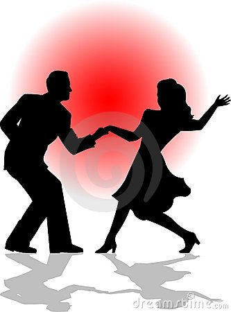 Swing dance clipart black and white Swing Dance Couple/eps   Printtejä in 2019   Dancing couple ... black and white
