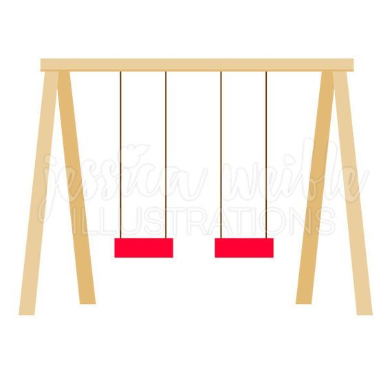 Swing set clipart one swing clip black and white stock Clipart swing set 1 » Clipart Portal clip black and white stock