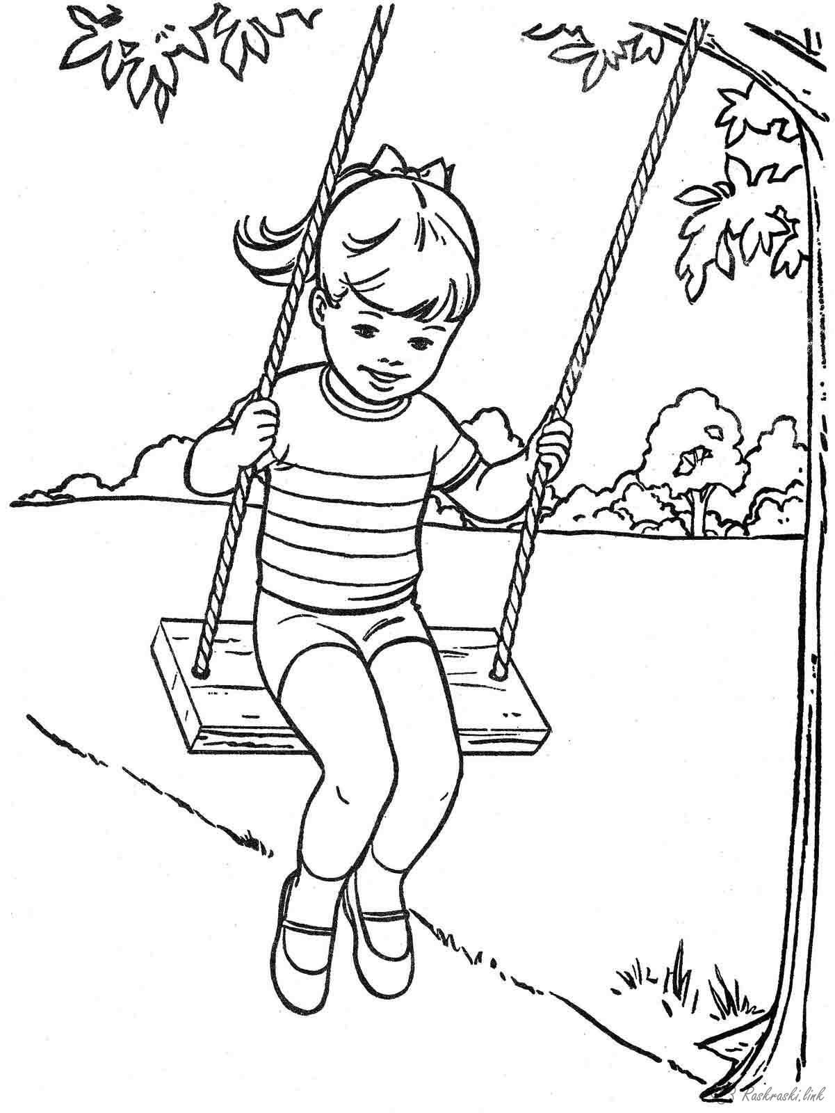 Swinging clipart coloring page graphic library library Free Swing Coloring Page, Download Free Clip Art, Free Clip ... graphic library library