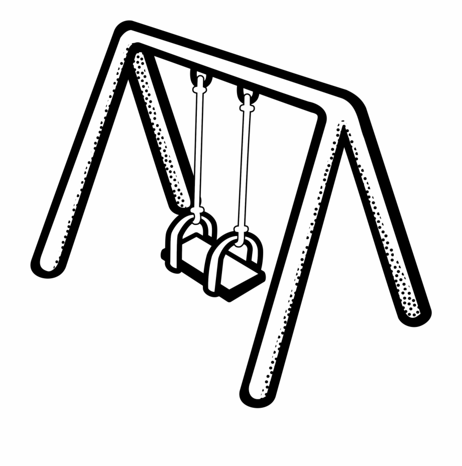 Swingset clipart black and white