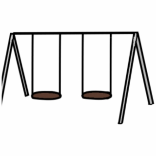 Swingset clipart black and white image freeuse library Free Swing Set PNG Images & Cliparts - Pngtube image freeuse library