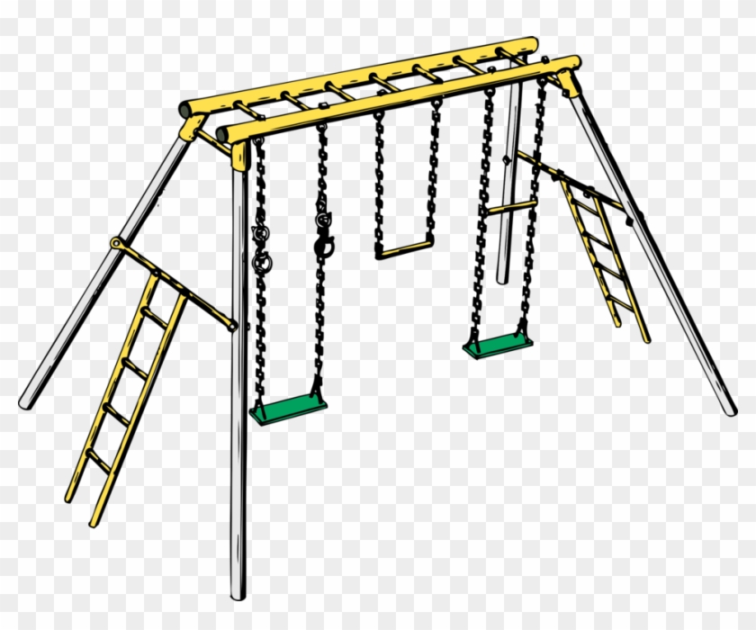 Swingset clipart black and white clipart free download Swing Jungle Gym Playground Child Outdoor Playset - Swing ... clipart free download