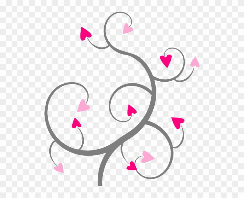 Swirling hearts clipart