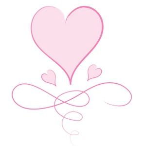 Swirling hearts clipart png transparent download Hearts Clipart Image: Pink heart graphic with big heart ... png transparent download