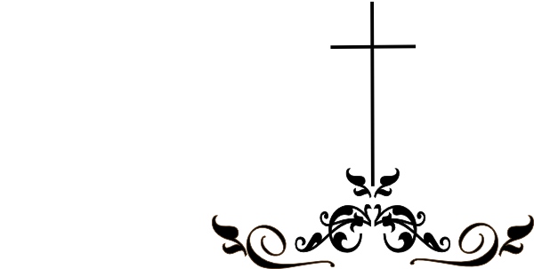 Swirls and christian cross clipart banner royalty free stock A beautiful black and white clipart image featuring a ... banner royalty free stock