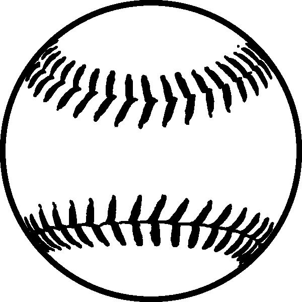Swirls around softball clipart black and white image transparent download Softball Baseball Clip art - Softball png download - 600*600 ... image transparent download