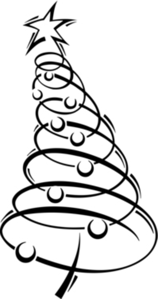 Swirly christmas tree clipart png image free download Swirly christmas tree clipart - Clip Art Library image free download
