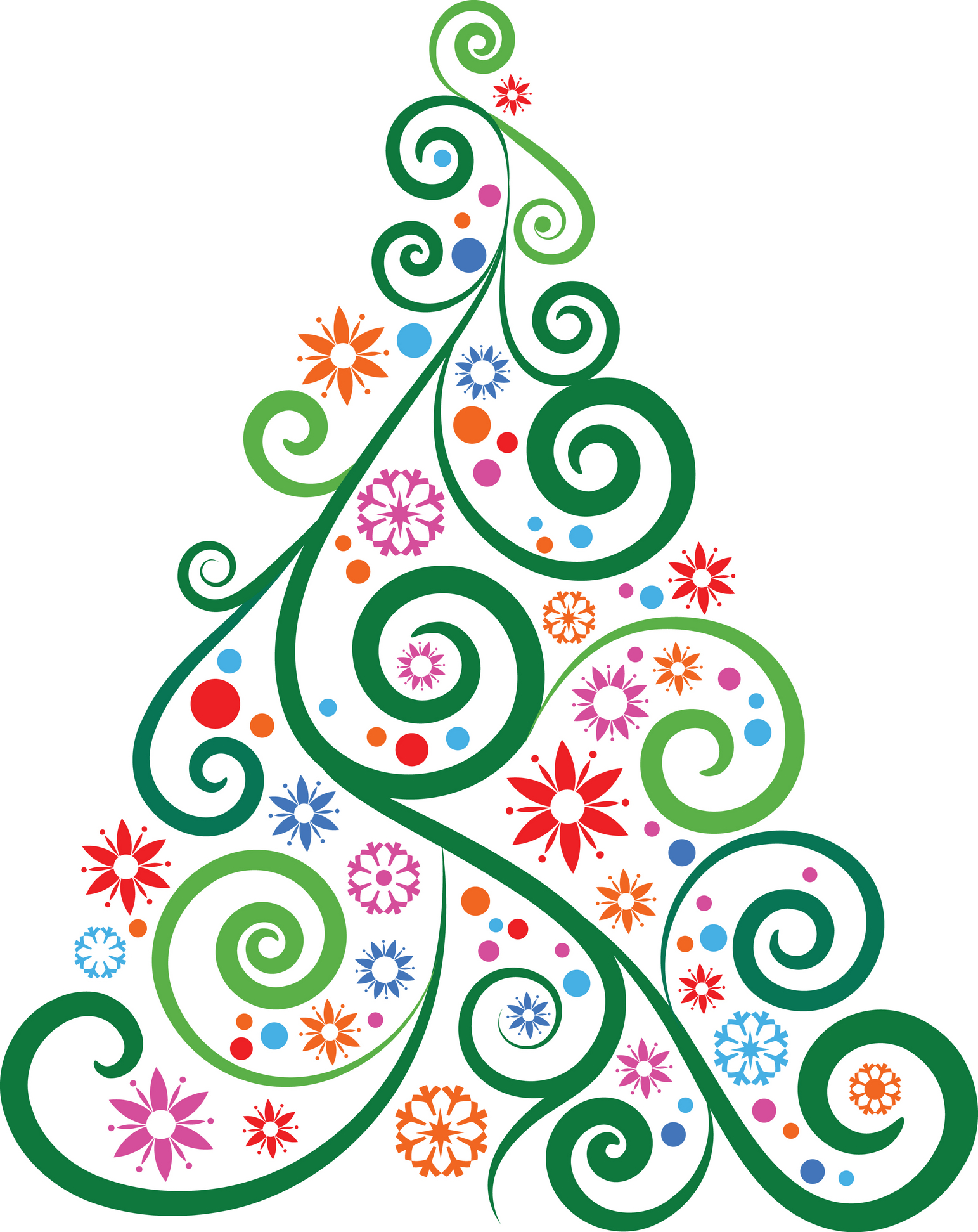 Swirly christmas tree clipart png clip freeuse download Free Swirly Green Cliparts, Download Free Clip Art, Free ... clip freeuse download