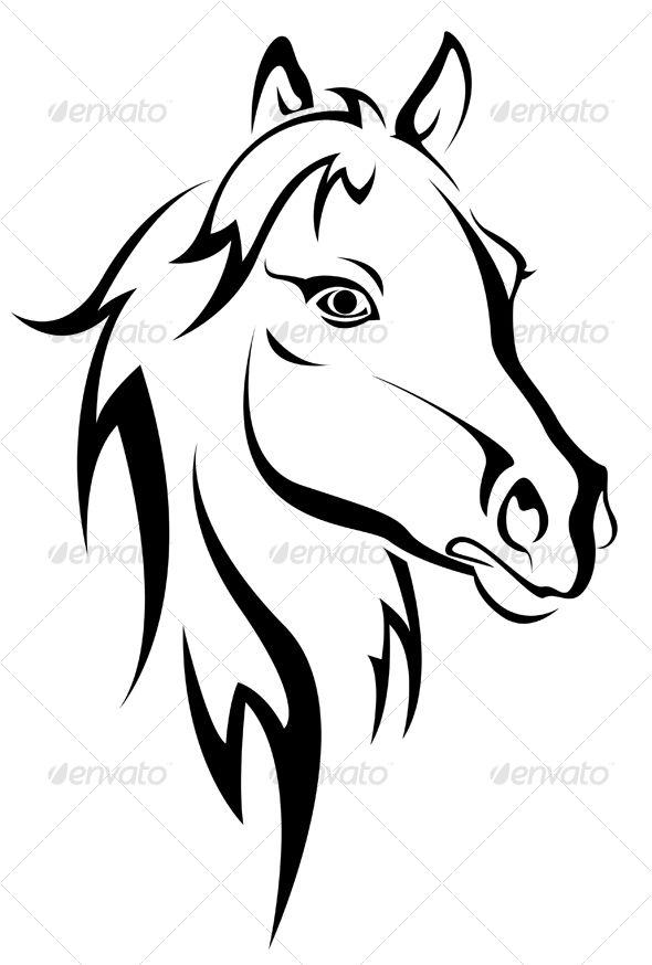 Swirly horse black and white clipart clip art black and white library Siyah at siluet - Hayvanlar Karakterler | Kağıt ve Sanat ... clip art black and white library
