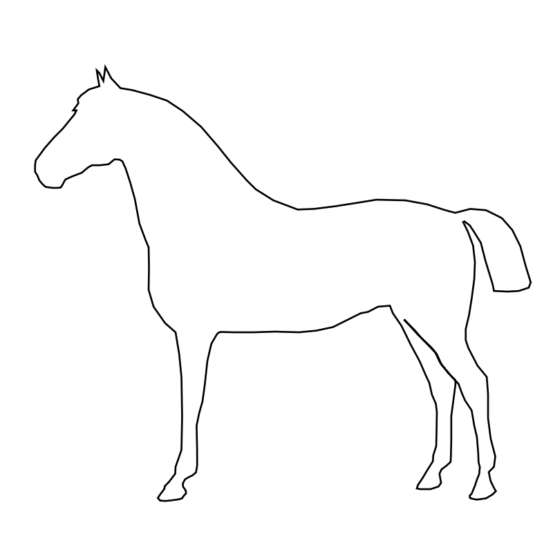 Swirly horse black and white clipart picture library download Free Clipart: Simple Horse | gingercoons picture library download