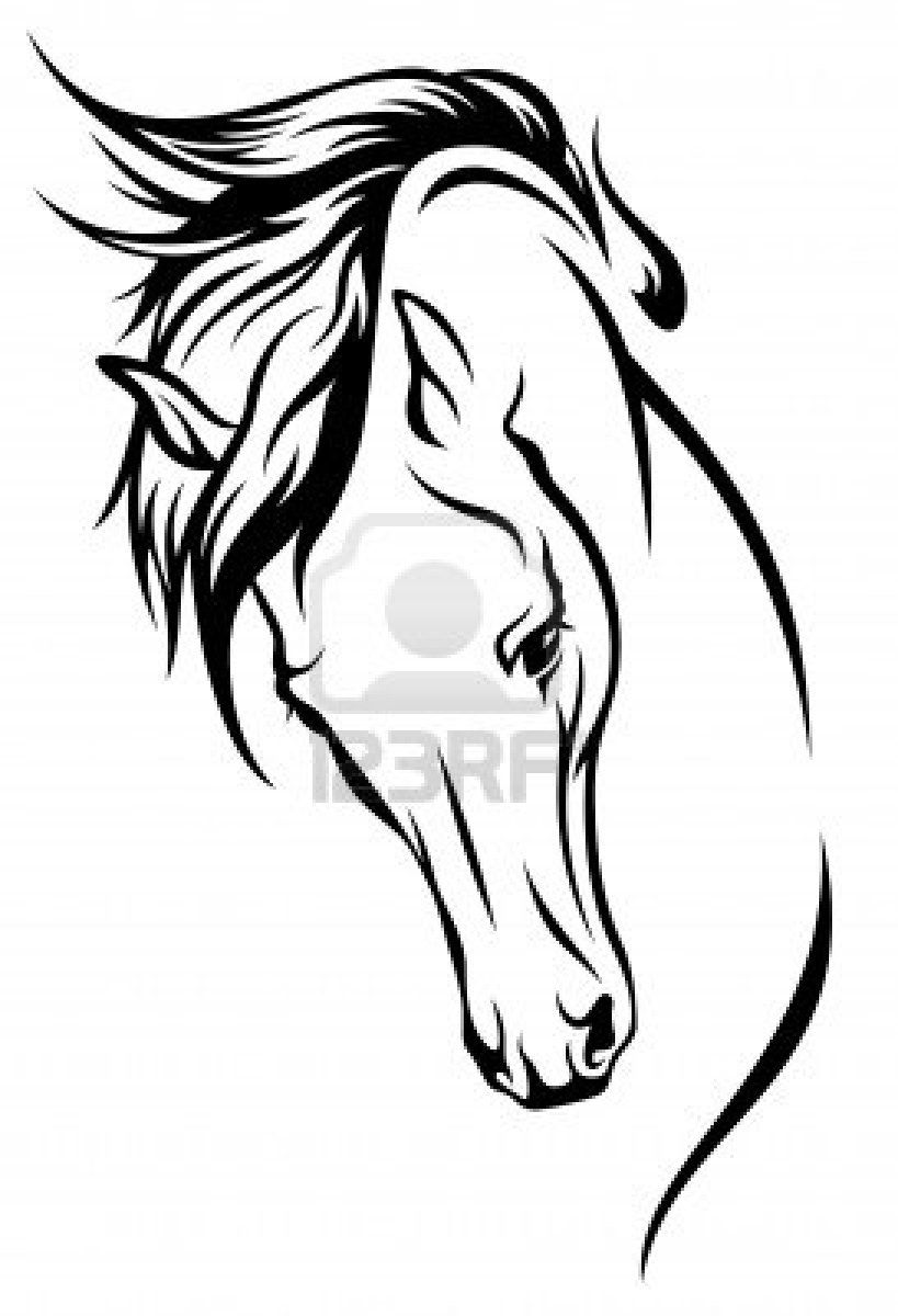 Horse heads facing each other clipart high resolution clip art library stock Stock Vector | select | Horse drawings, Horse silhouette, Horses clip art library stock