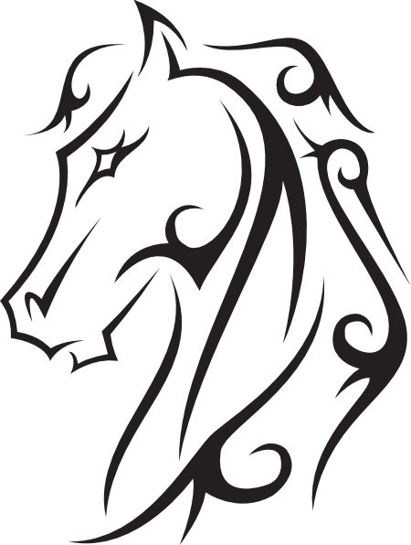 Swirly horse black and white clipart picture freeuse download Pin by k galligar on Horse art, crafts, jewelry, diy ... picture freeuse download