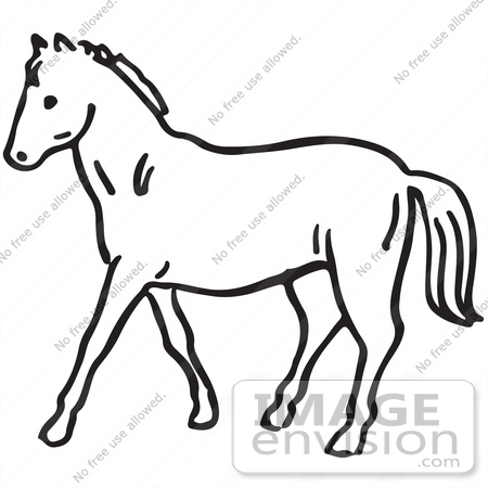 Swirly horse black and white clipart picture free Sunset Clipart Black And White | Free download best Sunset ... picture free