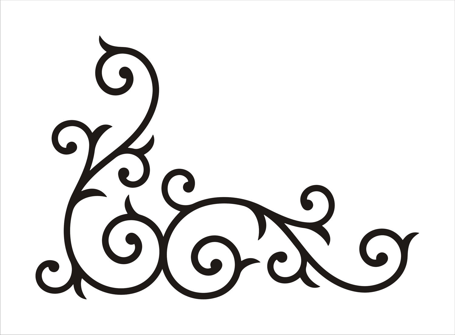 Swirly line borders clipart banner black and white Free Swirly Images, Download Free Clip Art, Free Clip Art on ... banner black and white