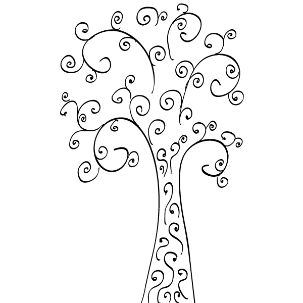 Swirly tree clipart free clipart library Curly Tree Clip Art Free clipart library