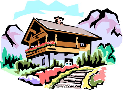 Swiss chalet clipart vector free Swiss chalets Royalty Free Vector Clip Art illustration ... vector free