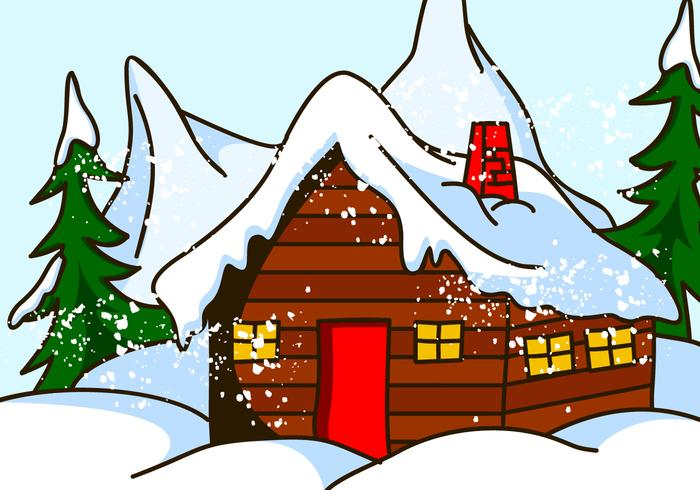 Swiss chalet clipart svg freeuse library Chalet House in Snow Vector - Download Free Vector Art ... svg freeuse library