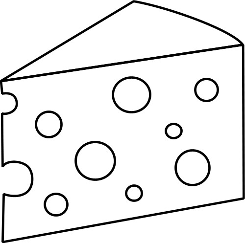 Swiss cheese black and white clipart clipart transparent Swiss Cheese Clipart Black And White Image #16717 - Free Clipart clipart transparent