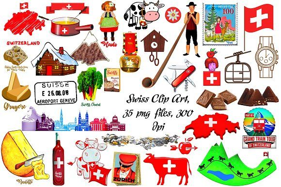 Swiss clipart picture free Pin by The Indigo Octopus on I\'m Swiss | Clip art, Digital ... picture free