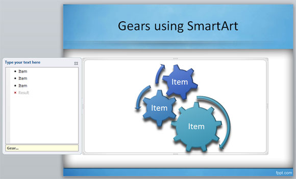 Switching gears clipart powerpoint jpg freeuse library How to create gears in PowerPoint using SmartArt jpg freeuse library