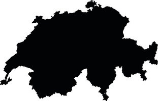 Switzerland clipart black and white png freeuse library Switzerland Black Map on White Background Vector stock ... png freeuse library