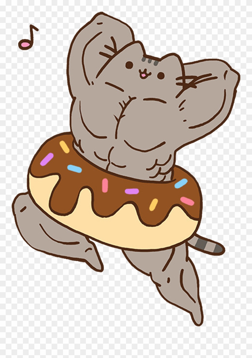 Swole clipart graphic free download Swole Pusheen - Muscle Pusheen Clipart - Clipart Png ... graphic free download