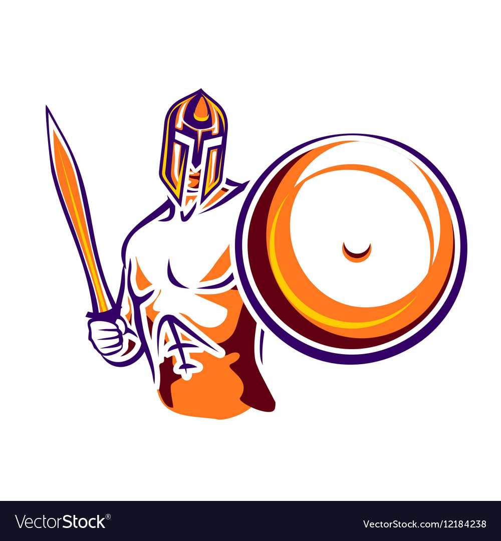 Sword and shield warrior clipart clip art Spartan warrior with a sword and a shield clip art
