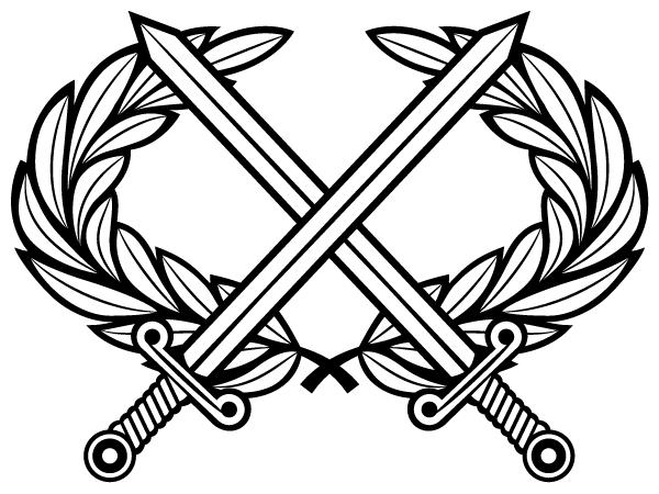 Sword dezine clipart line drawing clipart free download Heraldic Cross Swords with Laurel Wreath Vector Clip Art ... clipart free download