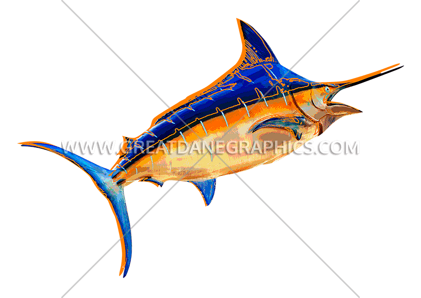 Sword fish clipart banner free library Funky Swordfish | Production Ready Artwork for T-Shirt Printing banner free library