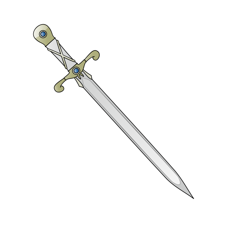 Sword free clipart vector transparent download Free Clipart: Long sword | nicubunu vector transparent download