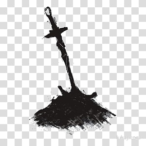 Sword in ground clipart png black and white stock Brown sword on ground with fire illustration, Dark Souls III ... png black and white stock
