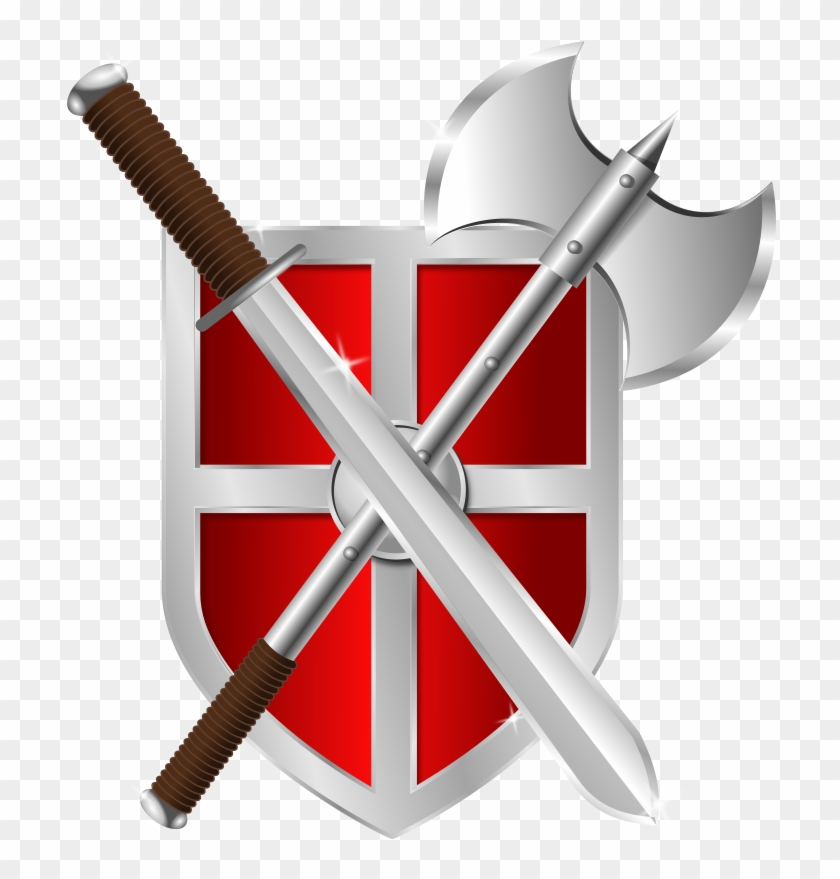 Sword shield clipart graphic black and white Shield And Sword Clipart , Png Download - Shield Clipart ... graphic black and white