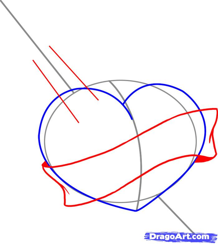 Sword through heart clipart b&w stock Free Drawings Of Hearts With Banners, Download Free Clip Art ... stock
