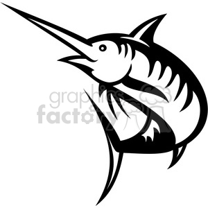 Swordfish clipart black and white clipart library library black and white swordfish outline clipart. Royalty-free clipart # 388435 clipart library library