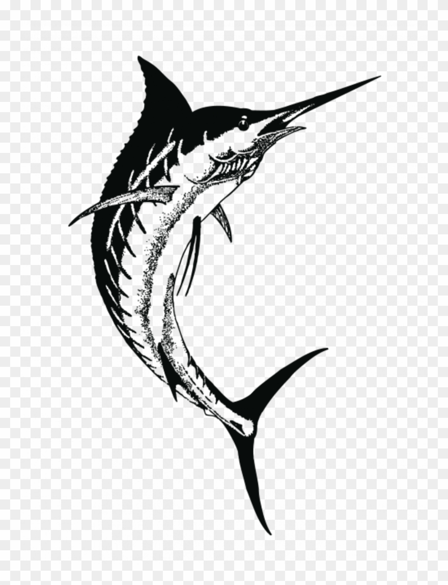 Swordfish clipart black and white graphic transparent Drawing Clipart Swordfish Drawing Black And White ... graphic transparent