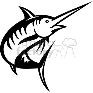 Swordfish clipart black and white jpg black and white black and white swordfish facing left clipart. Royalty-free clipart # 388454 jpg black and white